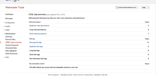 Htmla Improvements page's screenshot