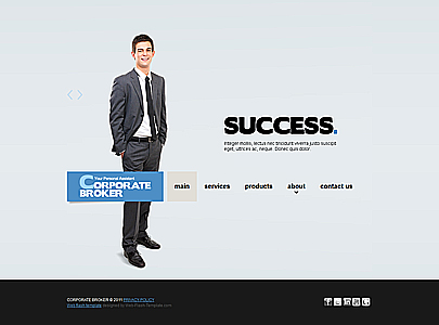 The image of Broker Corporation web theme