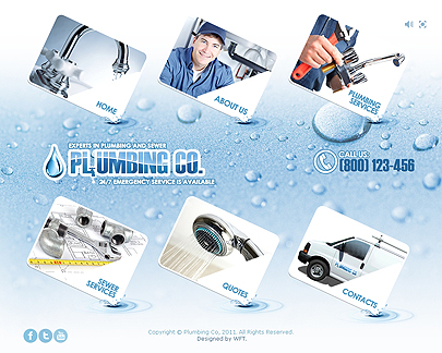 image of Plumbing website template's mane page