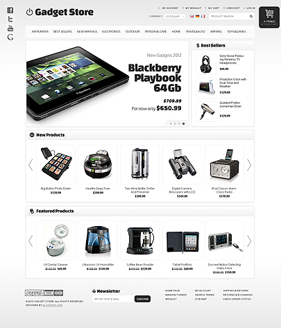 Gadget Store osCommerce theme's image