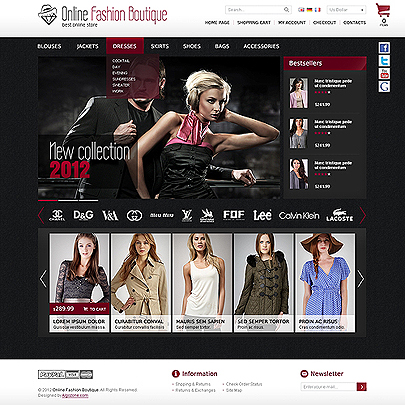 The image of online boutique magento template