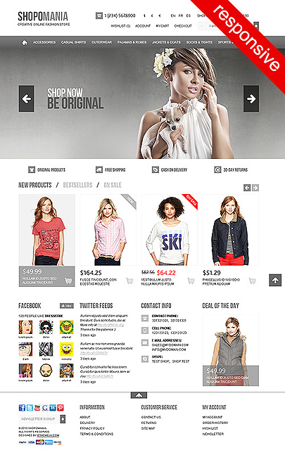The image of Shopomania OpenCart website template for Online Stores