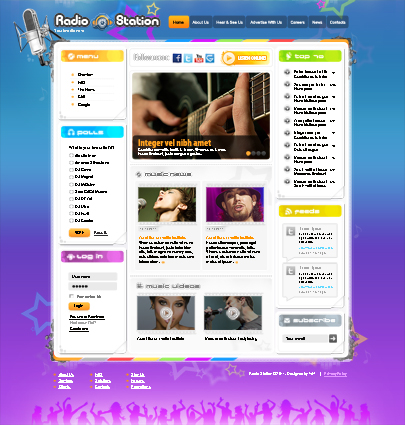Radio Station Joomla template's image