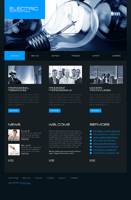 10 most popular electrical website templates - Tonytemplates blog