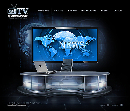 TV Station web theme's image
