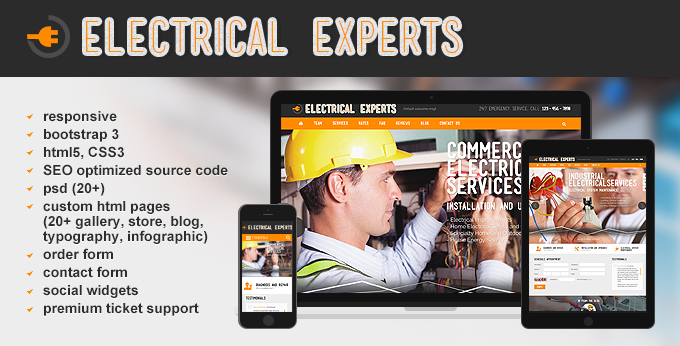electrical contractor website template - pacq.co
