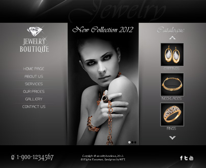 The Jewelry Boutique website template's image