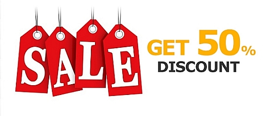 Sales Campaign banner discount on the products from 10.17.2014 to 10.23.2014