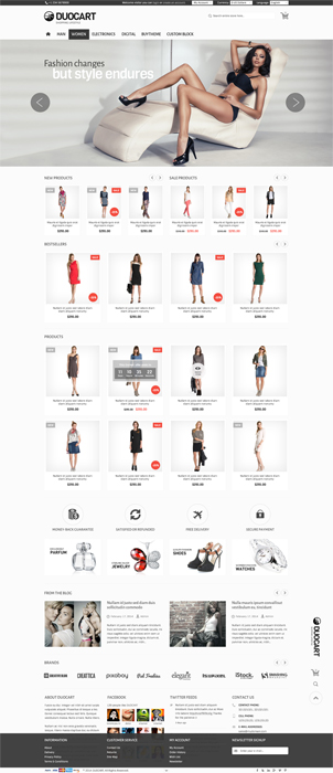 The image of Duocart Opencart responsive web template