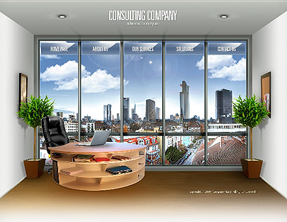 Consulting Co. template's screenshot