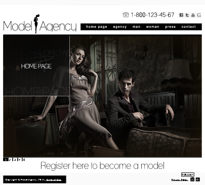 Model Agency web template's image