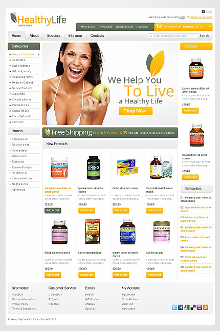 Healthy life web theme's image