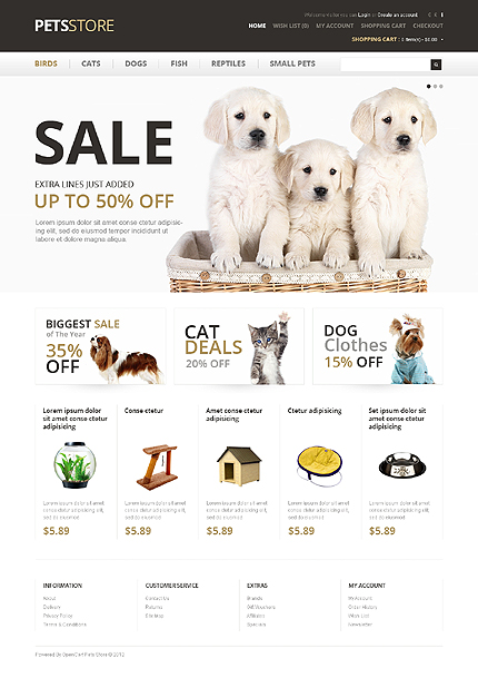 Animal Store web theme's image
