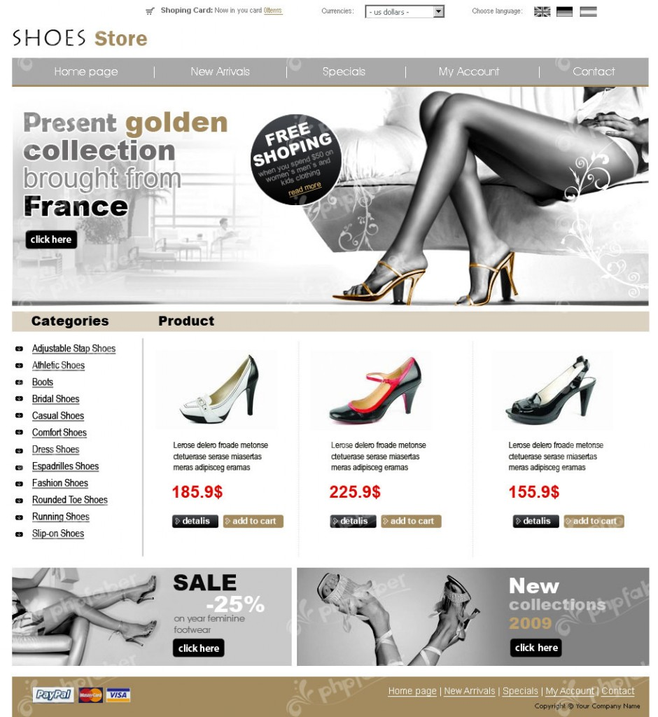 Shoes Store template's image
