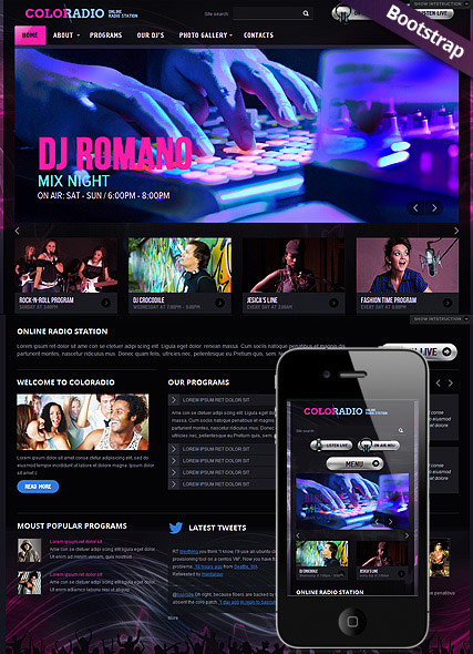 the image of ColoRadio web theme