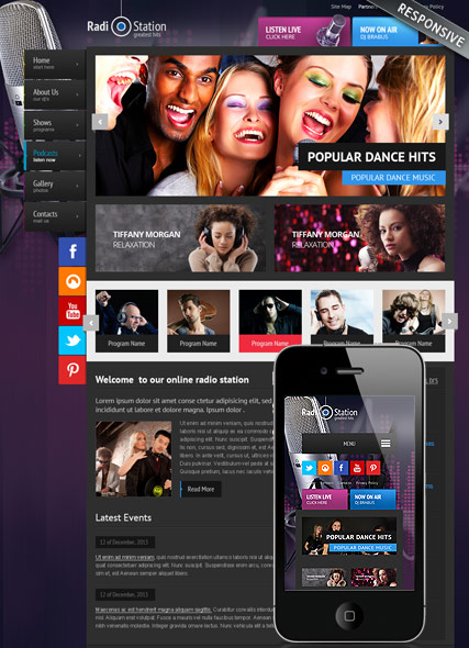 Radio-v3-Joomla-template's screenshot