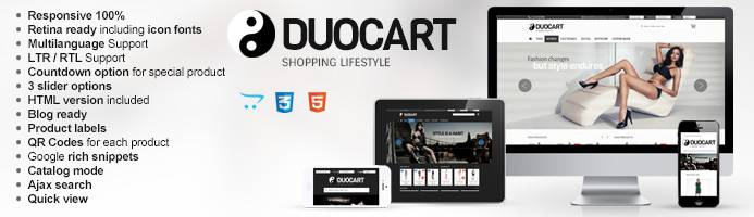 The banner for Duocart Opencart web template