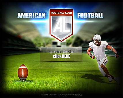 The screenshot of American Football web template