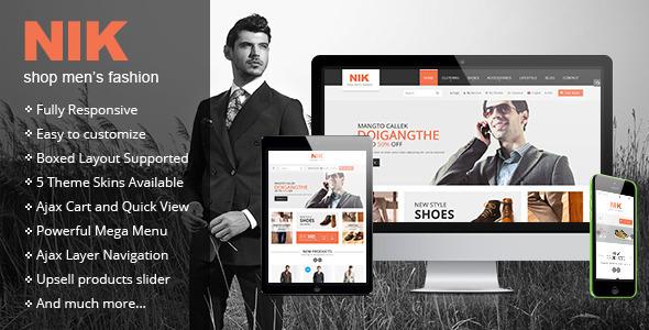 Nik Responsive Magento Fashion theme's image