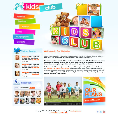 free kids club html5 website template tonytemplates blog