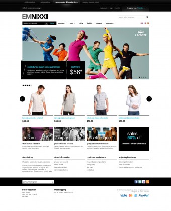 the image of EM Nixx magento web theme