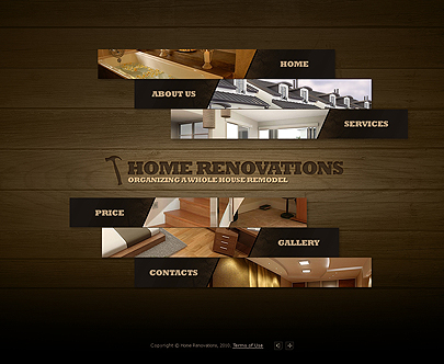 Home Renovations website template's screenshot