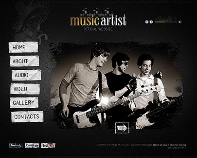 Music Artist template's screenshot