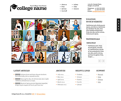 College Name website template's screenshot