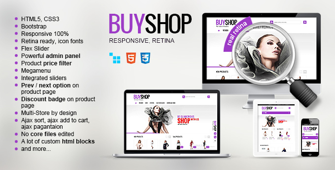 Buyshop Fashion CS-cart Theme - main page image