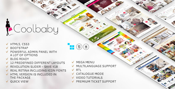 Coolbaby CS-Cart Fashion theme image