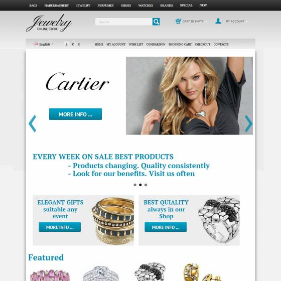 Jewelry CS Cart template's screenshot