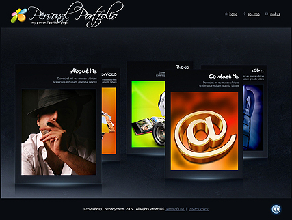 The image of Photo Portfolio template's main page