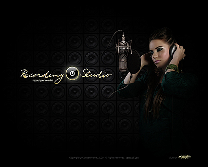 Recording Studio website theme's image