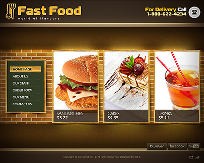 the image of Fast food web theme