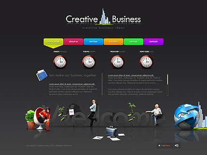 screenshot of Creative Business web theme