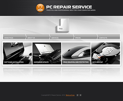 Image of PC Repair website template