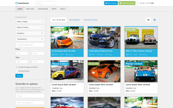 Automarket theme's image