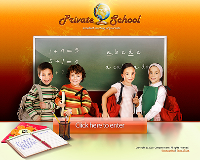 Private School website template's image