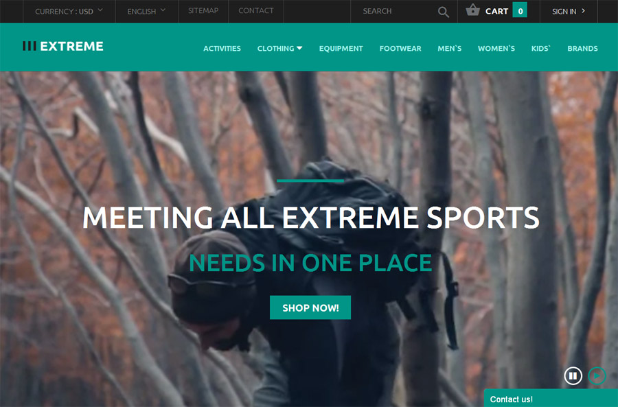 Extreme PrestaShop Website Theme
