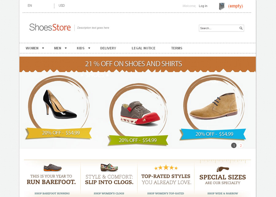 Shoes Store PrestaShop Theme