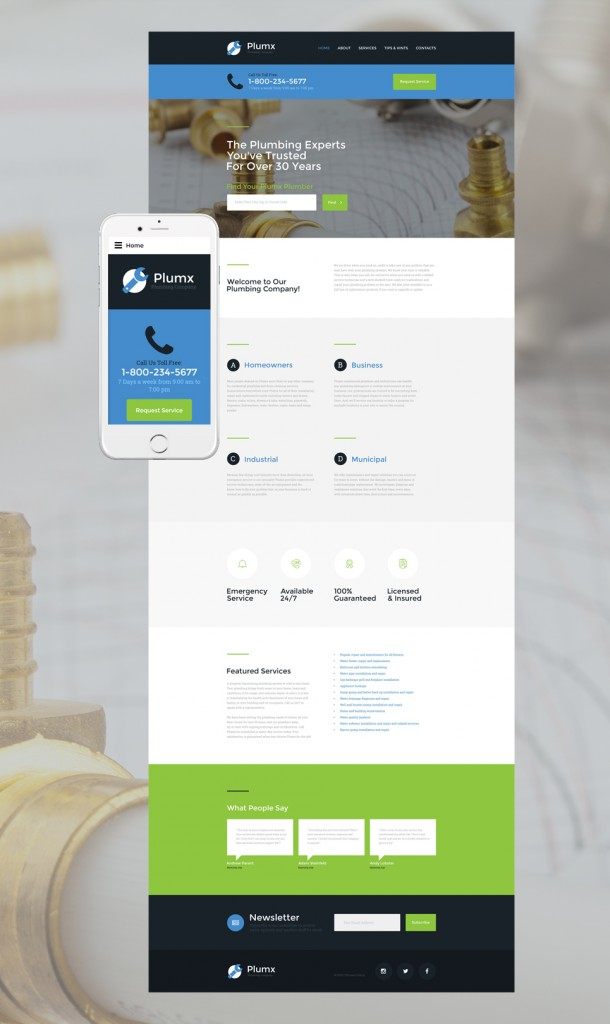 Plumx-Website-Template