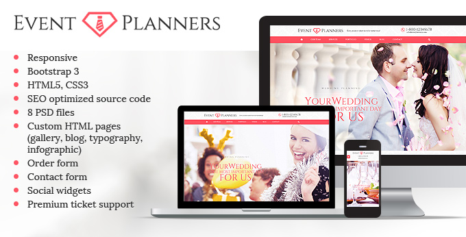 Event Planners template big image