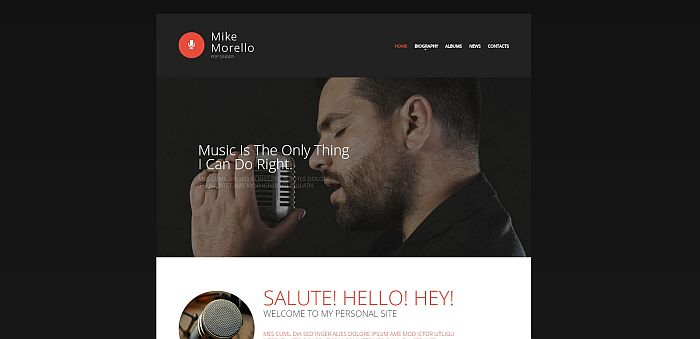 Mike Morello Singer Portfolio website template