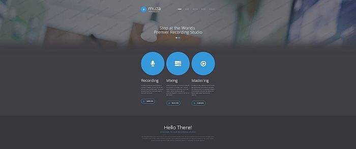 Recording Studio Responsive template Muza
