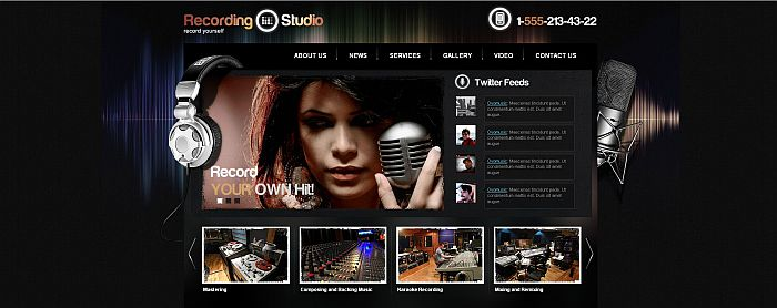 Recording Studio html5 template