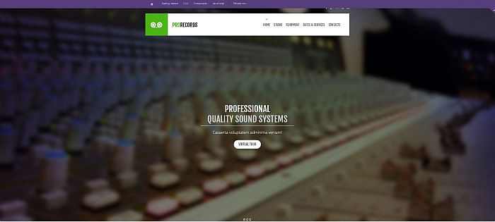 Recording Studio bootstrap website template