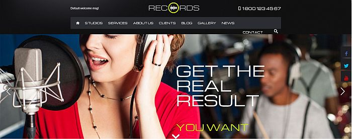 Records html5 website template image