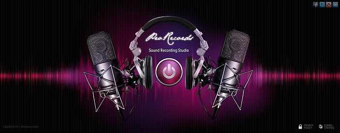Sound Studio Html5 template