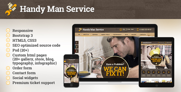 Handy Man Service html5 template