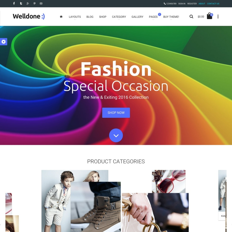 Welldone Opencart fashion theme image